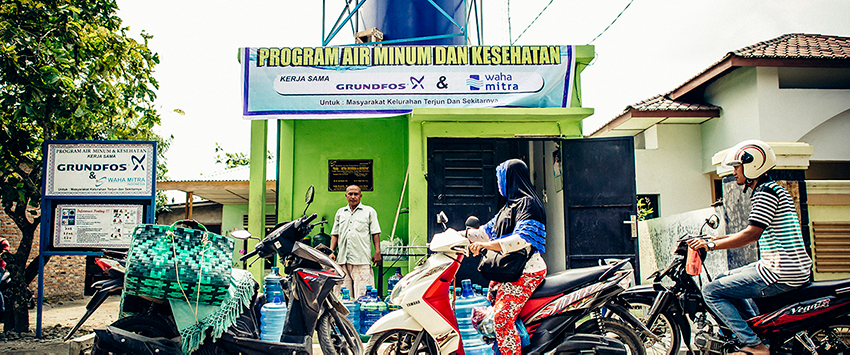 Terjun, Indonesia, safe water project