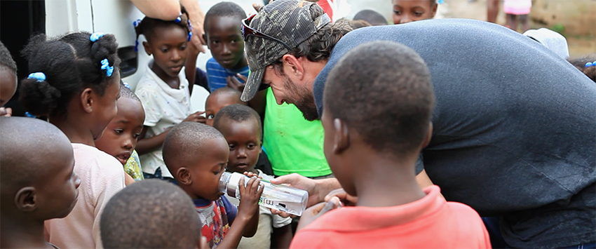 Adam Wainwright in Haiti