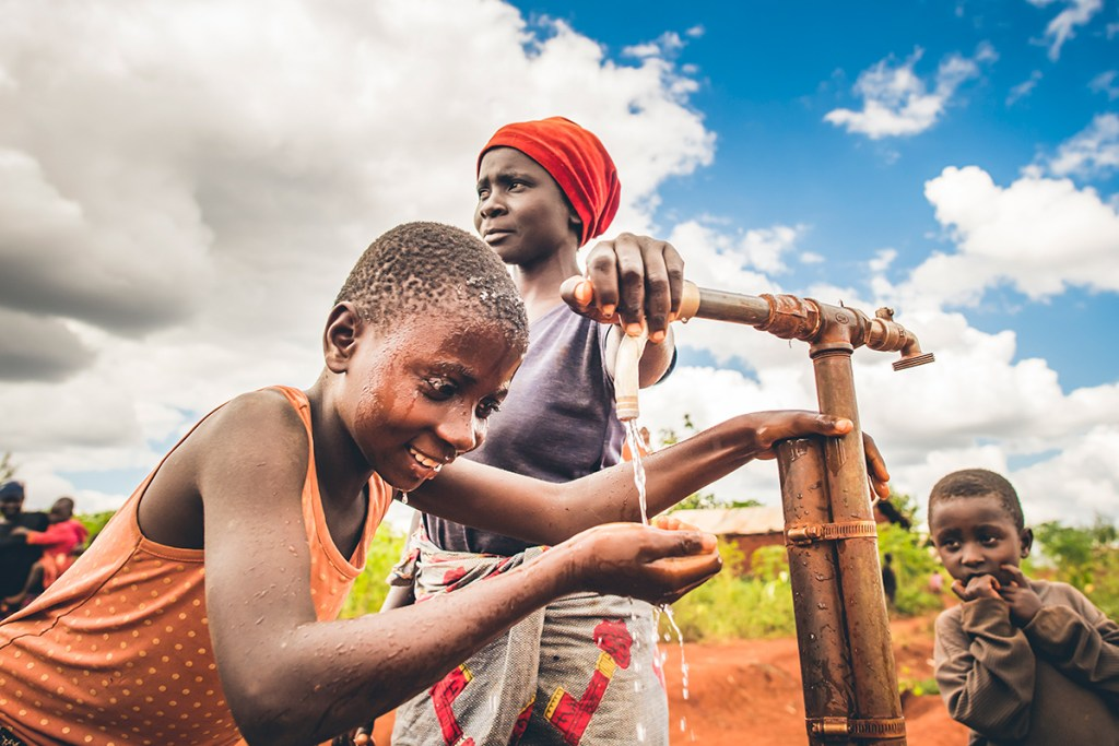 Safe water in one of Tanzania's refugee settlements
