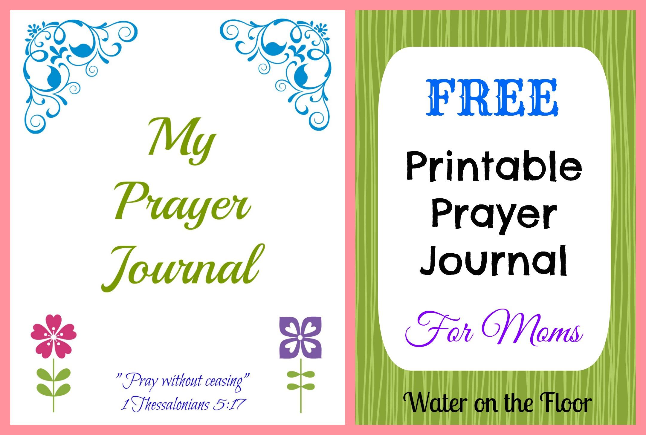 Free Printable Prayer Journal For Moms