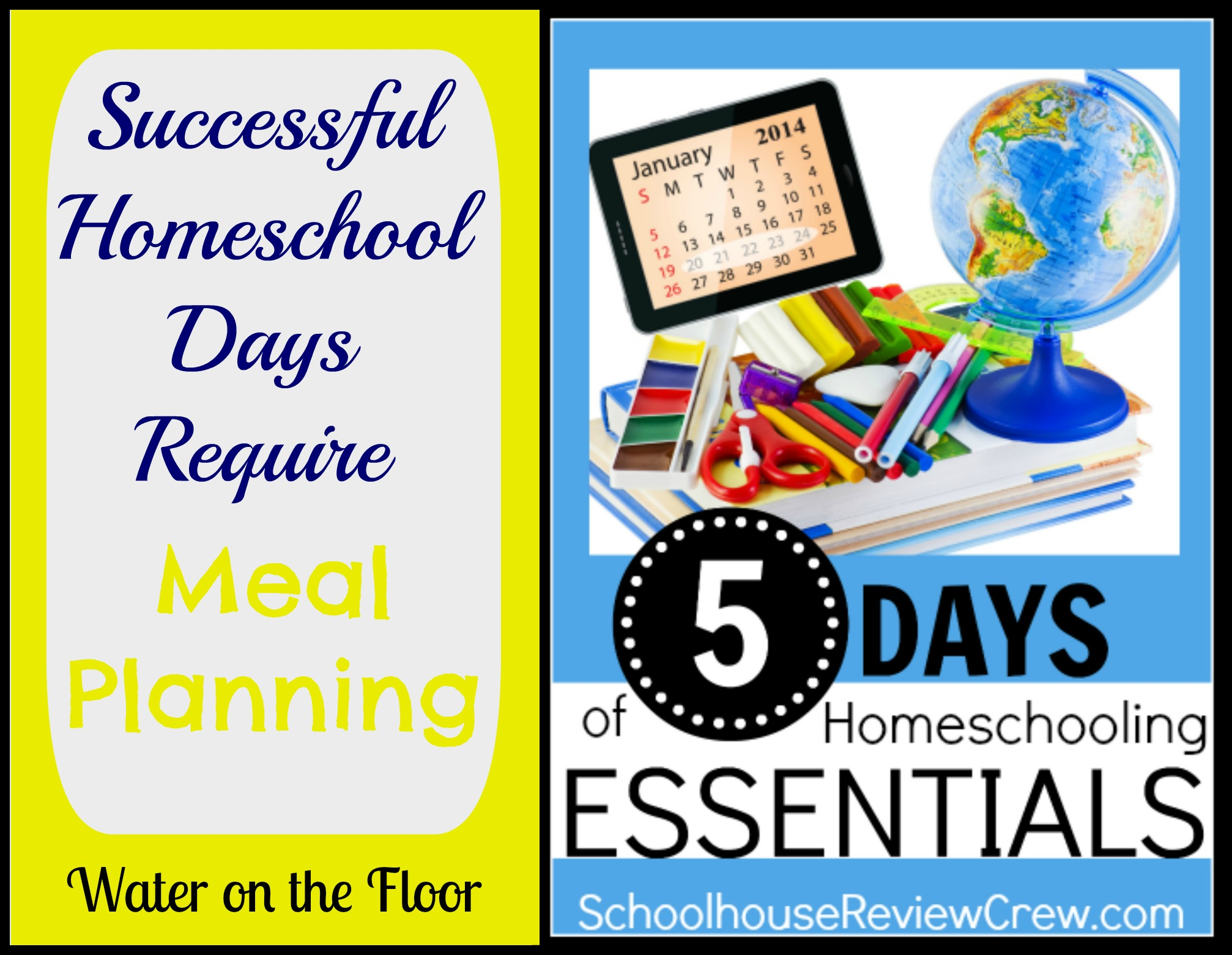 Successful Homeschool Days Require Meal Planning 5 Days
