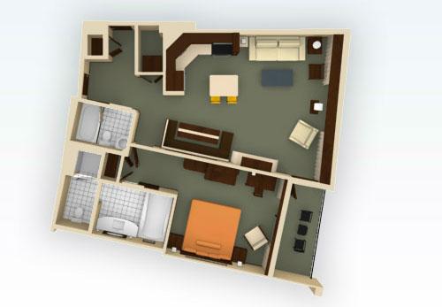 Studio, 1, 2, 3 Bedroom Villas