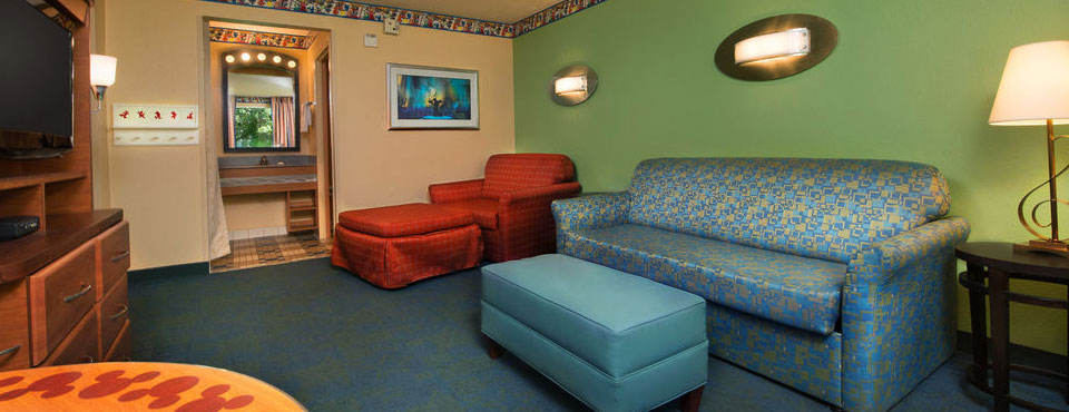 Family Suites with Living Room area at the Disney All Star Music Resort 960