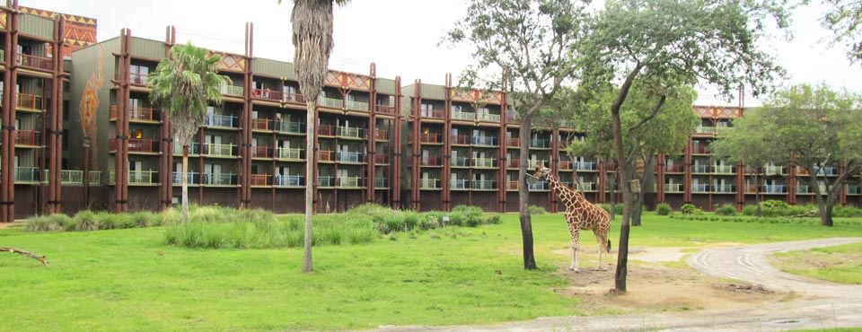 View of the Savanna and rooms with Balcony at the Animal Kingdom Kidani Village Resort 960