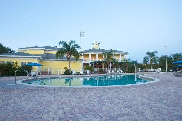 View of the Bahama Bay Resort Clubhouse from the Main Pool 600