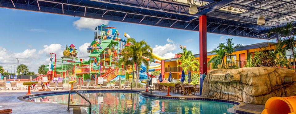 View of the Water Park from under the Canopy at Coco Key Resort in Orlando 960