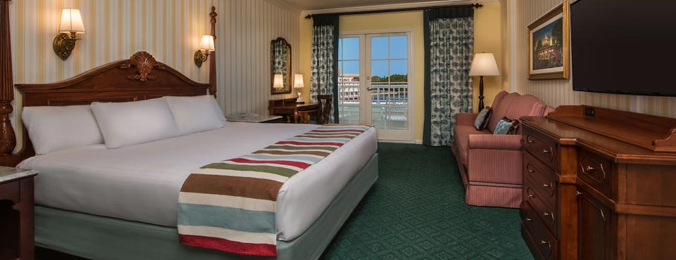 Take a look at one of the Standard Rooms with a Water View at the Disney Boardwalk Inn Resort in Disney World 960