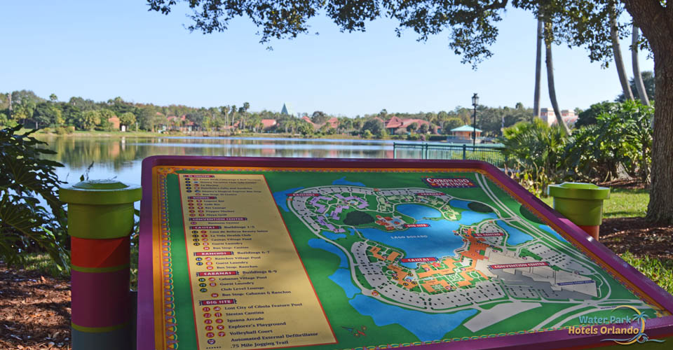 Disney's Coronado Springs Map with Directions on