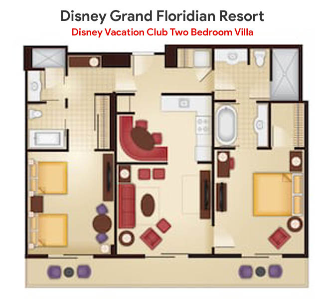 Grand Floridian 3 Bedroom Villa Floor Plan Novocom Top