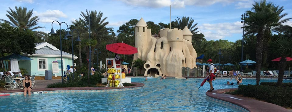 View of the Sand Castle Water Slide at the Disney Old Key West Resort in Disney World 960