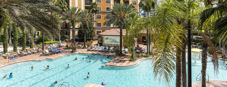 Floridays Resort Orlando Large Family Grand Pool top down view wide