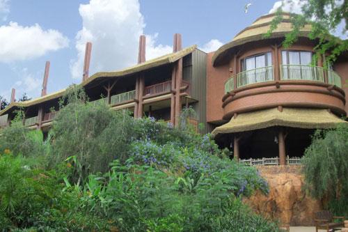 View of the back side of Kidani Village at Disney Animal Kingdom Resort Disney Vacation Club Properties