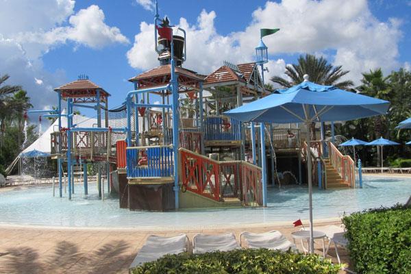 Kids Splash Park at the main Water Park in Reunion Resort