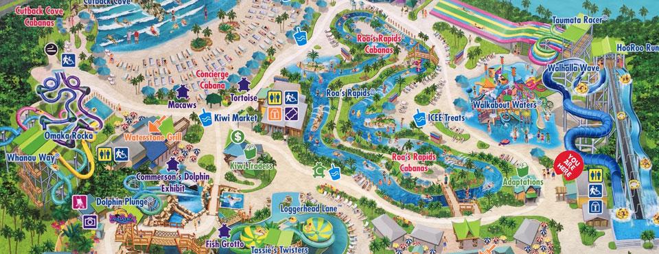 Aquatica SeaWorld Orlando Map and PDF