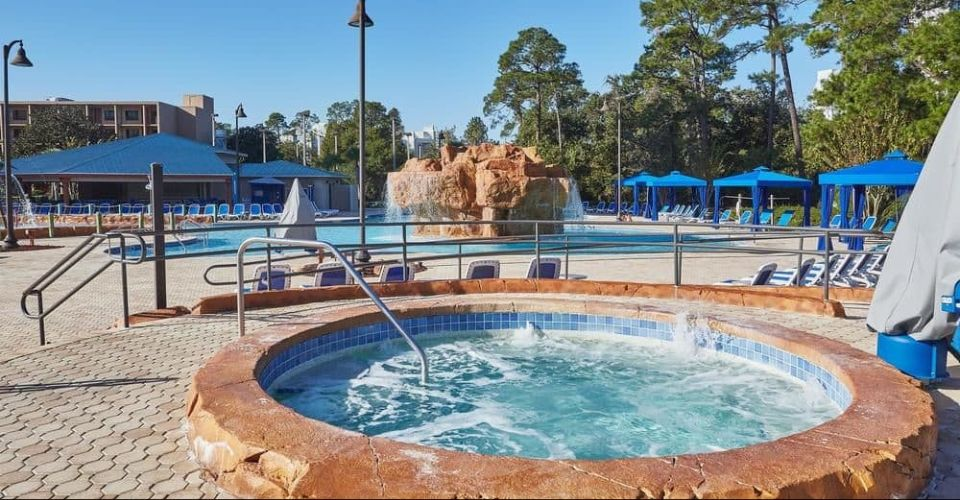 Hot Tub at the Wyndham Disney Springs Resort