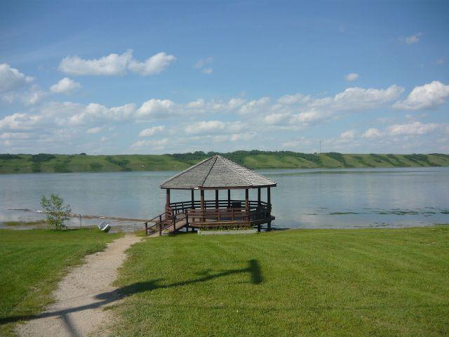 Little Manitou Lake - a saline lake in Saskatchewan, Canada.