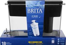 Brita Extra Large 18 Cup Filtered Water Dispenser with 1 Standard Filter, BPA Free – UltraMax, Black