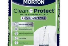 Morton Salt Morton F124700000g Clean & Protect/Rust Defense Water Softener Pellets, 40 Lb, Plain
