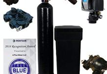 Fleck 5600 SXT Water Softener Ships Loaded With Resin In Tank For Easy Installation (32,000 Grains, Black)