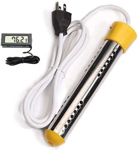 CalPalmy Immersion Heater   Submersible Water Heating with Full Stainless-Steel