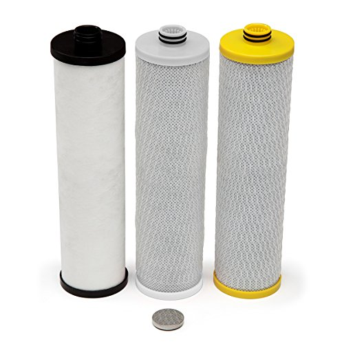 Aquasana AQ-5300+R 3-Stage Max Flow Under Sink Water Filter Replacement Cartriges