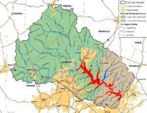 Falls Lake Watershed Map 5 6 10