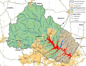 Falls Lake Watershed Map 5 6 10