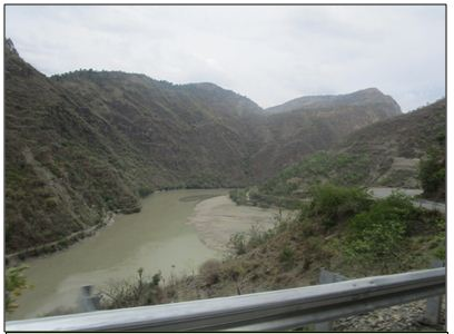 A Road side view of watershed area