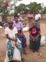 Some women with their bags at Machemba EPC!