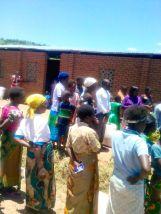 Distribution at Mayere EPC in Nsanje!