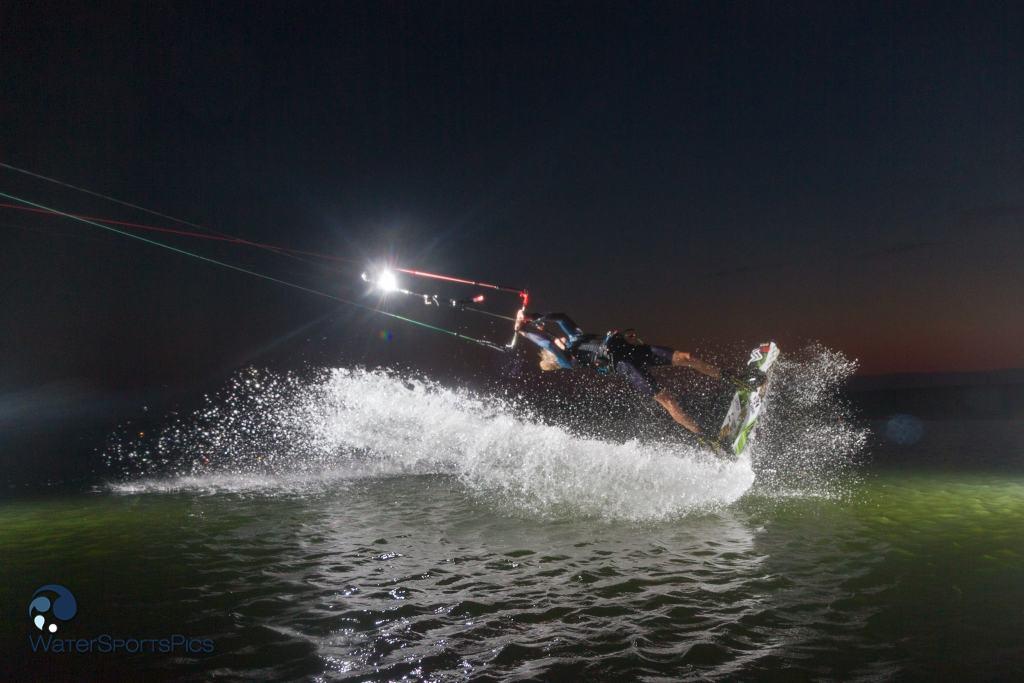 evening shoot with Dylan van der Meij (Flysurfer/Jobe/Lip/Lifely) at Zandmotor, Monster, The Netherlands on 22 July  2014.