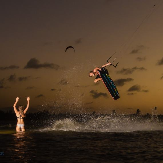 Sunset session at Cauipe, Brazil