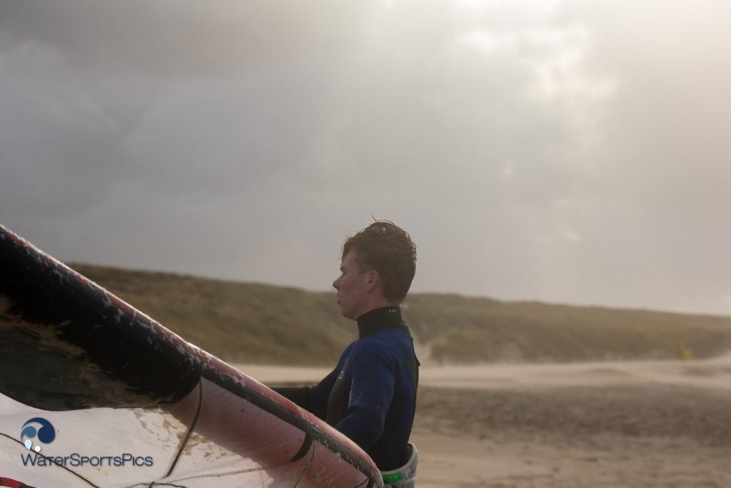 Storm session at KSN in Noordwijk The Netherlands op 20 December 2014,