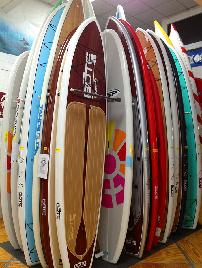 Visit our store and shop 100's of paddleboards in stock!