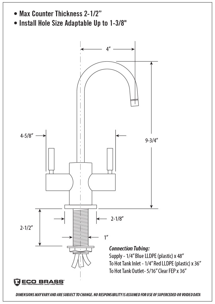 parche hot and cold filtration faucet