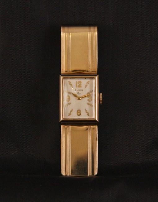 elgin money clip watch