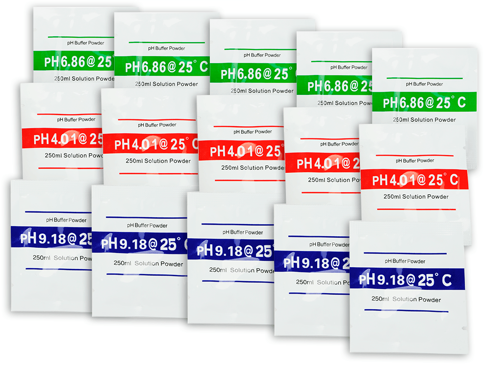 Packets of Buffer Solution Powder for Electronic pH Meter