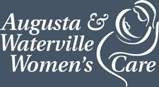 Augusta & Waterville Women's Care white logo