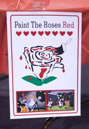 Painting roses sign