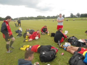 In a shot that echoes through the years, WIFC regroup between matches at WorldNET 2012.