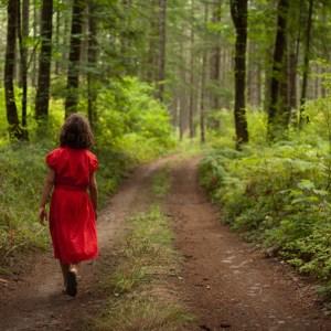 girl in forest fav