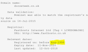 dorsetweb registration