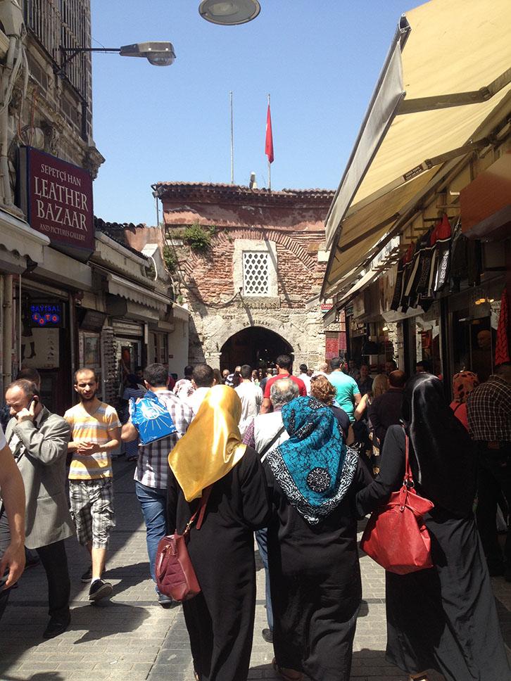 Istanbul, Turquie, entrée bazar