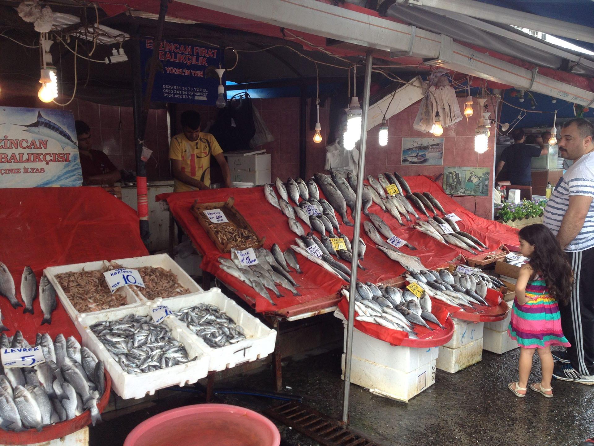 Istanbul, Turquie, marché aux poissons