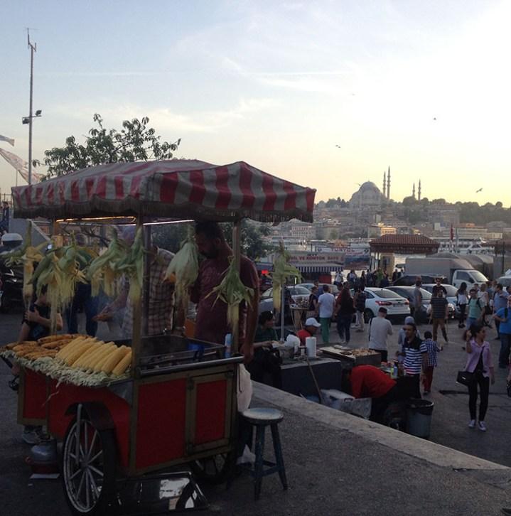 Istanbul, Turquie, Vendeur de rue