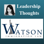 Tahmina Watson Leadership Thoughts