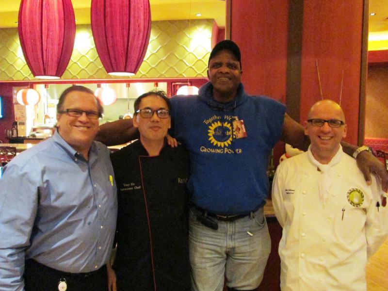 Chef Peter Gebauer and Will Allen at Ru Yi Milwaukee