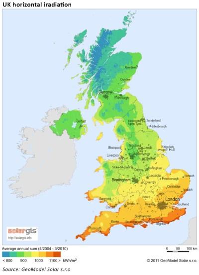 UK solar potential