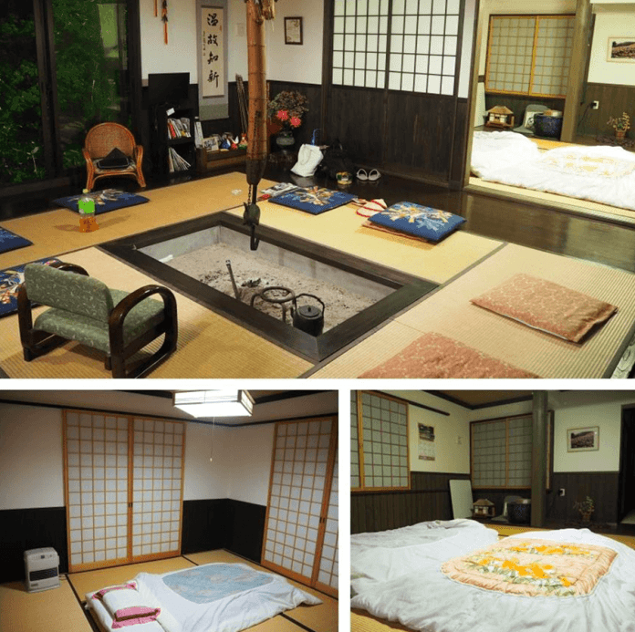 hearth-and-dormitory-in-minshuku-traditional-japanese-inn-in-yamagata