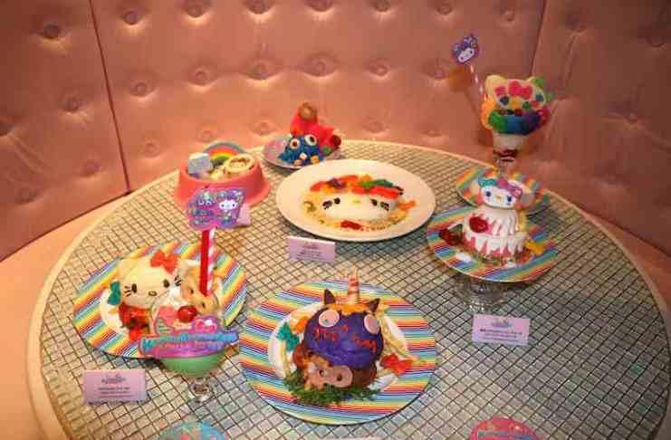以Hello Kitty和Mr.Choppy為主題的特色料理和甜點